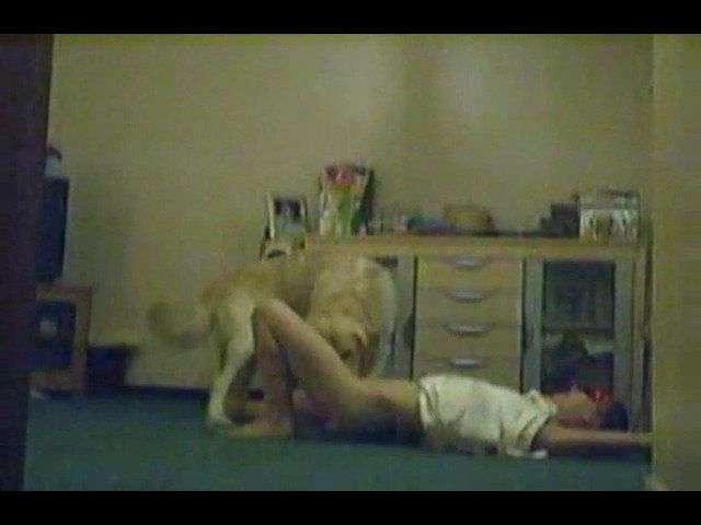 Video of amateur busting of woman with dog