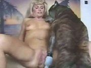Mature blonde filmed vidophy of zoophilia with dog